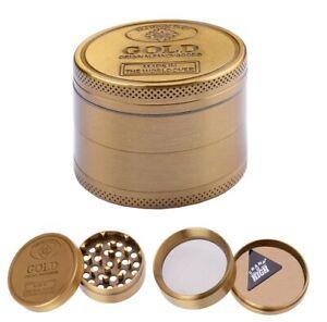 Design Grinder Crusher Sieb Tabak Gewürz Kräuter Mühle 55mm Silber Metall Herb