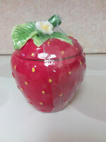 """The Spring Shop Strawberry Cookie Jar 9"""" high X 7"""" wide Brand New"""