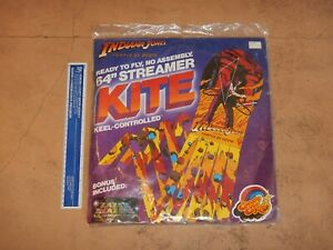 1984 INDIANA JONES AND THE TEMPLE OF DOOM SPECTRA STAR STREAMER KITE, NOS SEALED