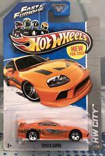 Hot Wheels Toyota Supra Orange HW City 2013 Die-cast
