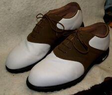 Nike Air Classic White & Dark Khaki Oxford Golf Shoes in Orig Box Men`s 10 1/2 D