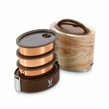 New Vaya Tyffyn 3 Container Vacuum Insulated Lunchbox 1000ml Plus a BagMat Maple