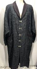 Krackerz XL Men Long Black Coat Blazer Gothic Cosplay Latch Closure Pockets