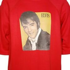 Elvis Presley Sweatshirt Vintage 70s Short Sleeve Old Elvis Made In USA Large