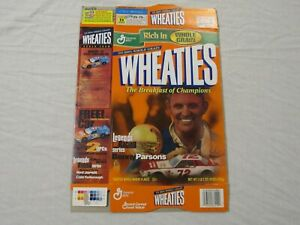 Benny Parsons #72 Nascar Legends Of Racing Wheaties Cereal Box (Flat) 2000