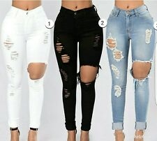 Ripped denim jeans Colors are as shown on the picture Sizes are : 9,11,15,1XL,