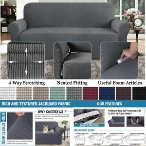 PREMIUM Elastic STRETCH SOFA COVERS Slipcover Protector Settee 1/2/3 Seater