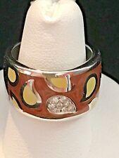 La Nouvelle Bague New 18k White Gold Enamel and Diamonds Band Ring