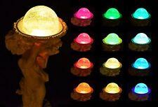 """Solar Boy Sculpture Holding Glass Crackle Ball,16"""" Cherub Sculpture LED Lights"""