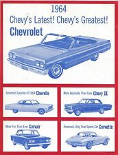 1964 Sing Of The USA With Chevrolet Song Book 1964 Impala Chevelle Corvette