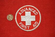 Advanced First Aid  Red Cross Patch Embroidered