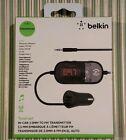 Belkin TuneCast In-Car 3.5mm Aux Audio to FM Transmitter Black - OPEN BOX