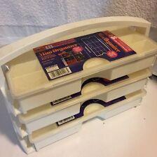 Three 18 Slots Plastic Craft Organizer Beads Adjustable Jewelry Storage Box Case