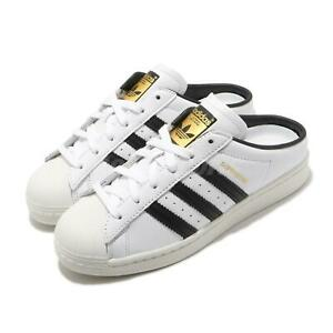 adidas Originals Superstar Mule White Black Gold Men Women Unisex Sandals FX5851