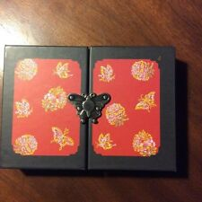 Credit card/Business card holder/inside Souvenir box with butterfly clasp