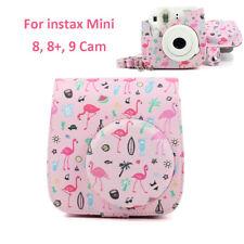 For Fujifilm Instax Mini 9 Film Camera Flamingo Pink PU Carrying Bag Case Cover