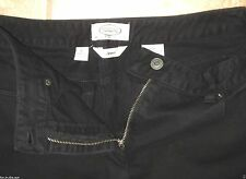 TALBOTS SIZE 6 PETITE STRETCH BLACK DENIM JEAN CAPRIS NOT FADED SNAPS~SIZE CHART