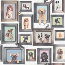 Rasch PUPPY LOVE Cani in frame PATTERN cornice quadro carta da parati Motif 272703