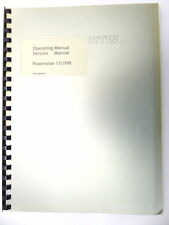 RTW Operating Manual / Service Manual Peakmeter 1117HR  German/English (11