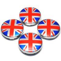 4x 60mm MINI Union Jack UK Nabendeckel Felgendeckel Nabenkappe Nabendeckung