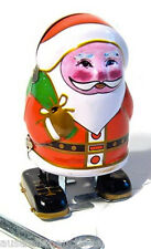 WIND UP TIN TOY SANTA CLAUS FATHER CHRISTMAS GIFT BOX