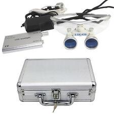 Surgical Dental Loupes Glasses Medical Binocular Magnifier 3.5X 420mm LED Light