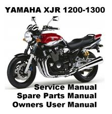 YAMAHA XJR1200 XJR1300 XJR Owners Workshop Service Repair Parts Manual PDF CD-R
