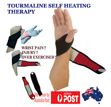 Wrist & Palm Support Brace Strap Tourmaline Self Heating Wristband Pain relief
