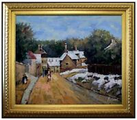Framed, Sisley Snow at Louveciennes Repro, Hand Painted Oil Painting 20x24in