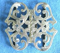 Antique Victorian 1900 Hallmark Engraved Sterling Silver Nurses Belt Buckle