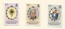Dependencies 1981 Royal Wedding  set of 3 Mint Hinged as per Scan