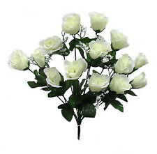 84 Long Stem Roses IVORY CREAM Silk Wedding Flowers Centerpieces Buds Bouquets