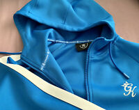 RRP £80 Gym King Tracksuit Blue With White Trim Size M