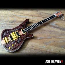 Axe Heaven Lemmy Signature Rickenbacher Carved Bass Mini Guitar Replica Model