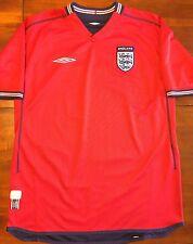Mint Umbro ENGLAND 2002 World Cup L Away Soccer Jersey Football Shirt