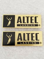 Vintage Altec Lansing Speaker Badges (pair) - Solid Brass