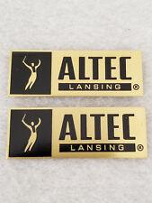 Vintage Altec Lansing Speaker Badges (pair) - Solid Brass