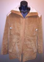 VTG MCGREGOR Sherpa Lined Corduroy Coat 60s 70s Winter Western SZ 44 Union Made