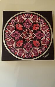 Mandala Hecho A Mano Pintura Óleo Sobre Lienzo