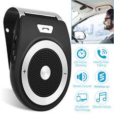 Wireless Car Handfree Multipoint Speakerphone Speaker Car Kit Sun Visor Clip