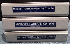 Lot 3 MICROSOFT FORTRAN DOS Optimizing Compiler Reference Manuals User's Guide