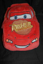 "Disney Pixar Cars Lightning McQueen 95 Microbead Race Car Plush Pillow 19"" Toy"