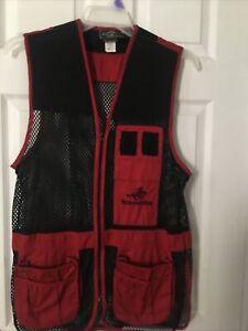 Winchester Shooting Vest Men's Small (34-36) Red Mesh Nylon Sportsman EUC