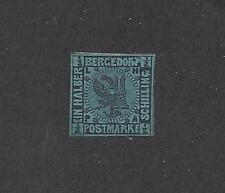 GERMANY -  GERMAN STATES - BERGERDORF - 1a  - USED - 1867 - BLACK ON BLUE
