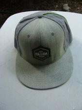 Pamoa Dotted Stripe Zigzan Linen Snapback 100% Cotton Cap Hat