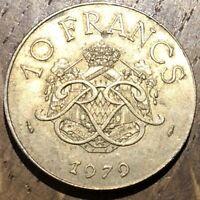 PIECE DE 10 FRANCS MONACO 1979 (552) 190500 EXEMPLAIRES SEULEMENT
