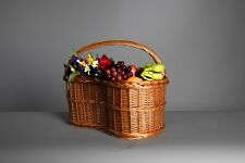 luxury shopping, christmas gift, picnic  wicker basket, designed and handcrafted