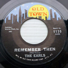 the EARLS doowop on vg+ condition OLD TOWN 45 REMEMBER THEN ~LET'S WADDLE FM174