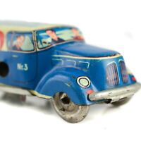 WEST GERMANY Express Number 3 Wind Up Tin Toy Delivery Litho Truck Vintage