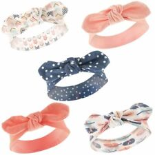 Hudson Baby Girl Headbands, 5-Pack, Feathers